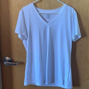 Reebok dryfit white short sleeved shirt never worn